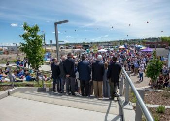 Photos and video from University District Gateway Bridge Celebration - May 7