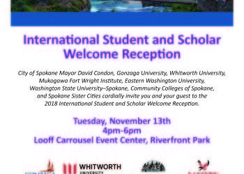 International Student and Scholar Welcome Reception - Nov 13