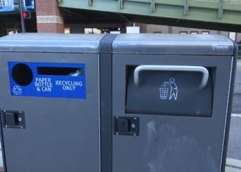 Solar Power Compacts Downtown Trash
