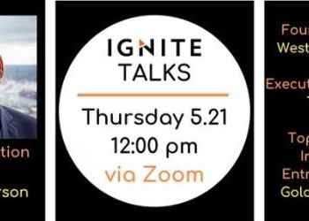 Ignite Talks with Erik Anderson on May 21st via Zoom