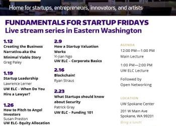 "UW CoMotion ""Fundamentals for Startups Fridays"" - Fridays in Jan and Feb starting Jan 12"