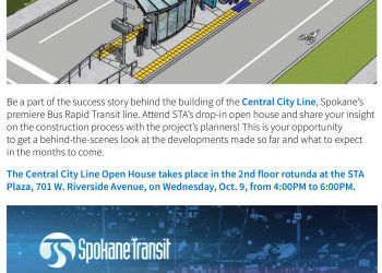 Central City Line Open House Invitation -- Wednesday, October 9, 4-6pm, STA Plaza 2nd Floor