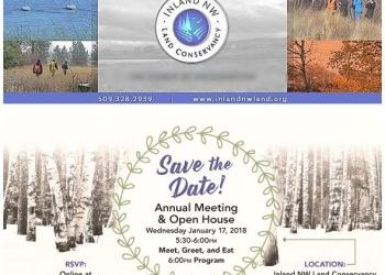 Inland NW Land Conservancy Annual Meeting and Open House - Jan 17