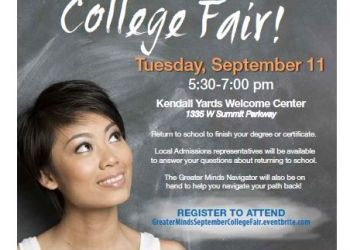 Greater Minds Initiative College Fair - Sept 11