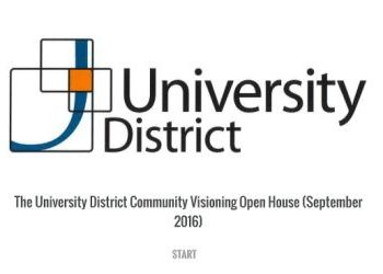 University District Visioning Open House Questionnaire - September 6, 2016