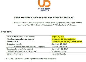 UDDA/UDPDA Joint Financial Services RFP
