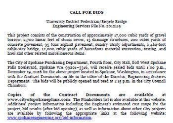 University District Gateway Bridge - call for bids