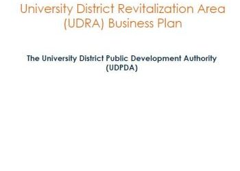 University District Revitalization Area (UDRA) Business Plan