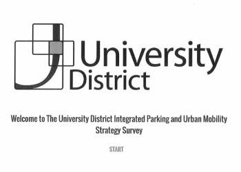 University District Integrated Parking & Mobility Strategy Survey - December 2016