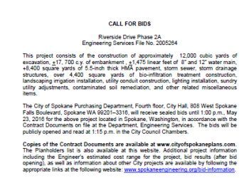 Riverside Extension Phase 2A - call for bids