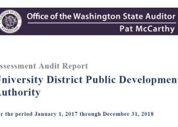 UDPDA 2017-2018  Washington State Auditor's Office Audit Result