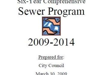 City of Spokane six-year comprehensive sewer program 2009-2014
