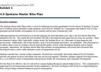 Spokane Master Bike Plan - adopted June 2009