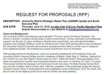 University District Planning RFP