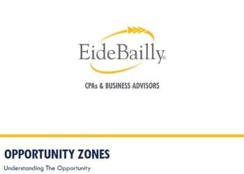 Eide Bailly Opportunity Zones presentation - March 7, 2019