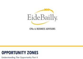 Eide Bailly Opportunity Zones presentation, part 2  - May 16, 2019