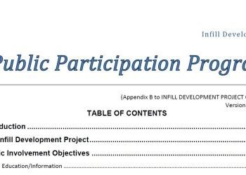 Infill Development - Public Participation Program