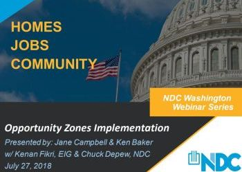National Development Council (NDC) July 27 Opportunity Zones Webinar